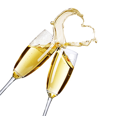 Champagne Honeymoon Toast